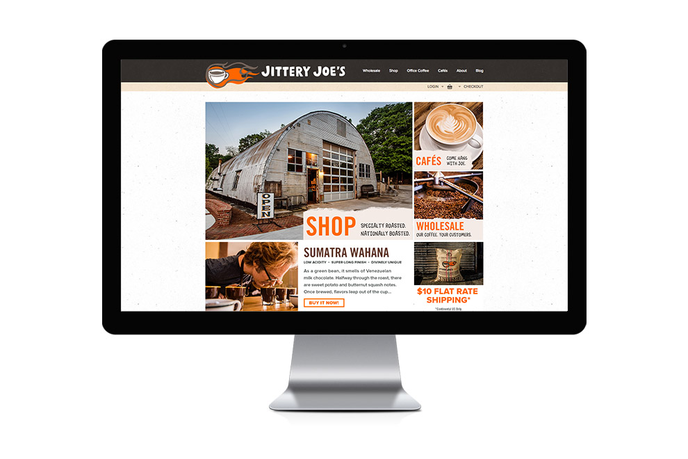 Jittery Joe's web site home page