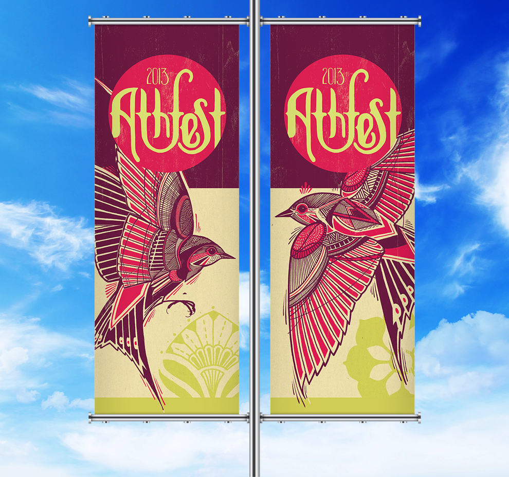 Athfest 2013 pole banner graphics