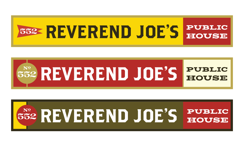 Reverend Joe's Public House signage
