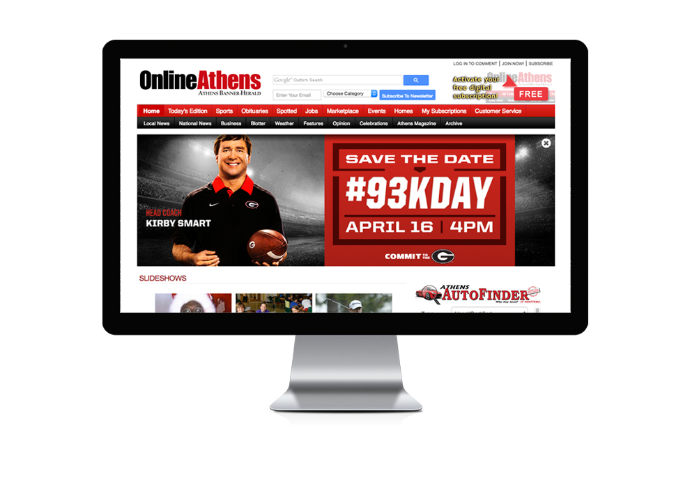 93KDay web sliding billboard