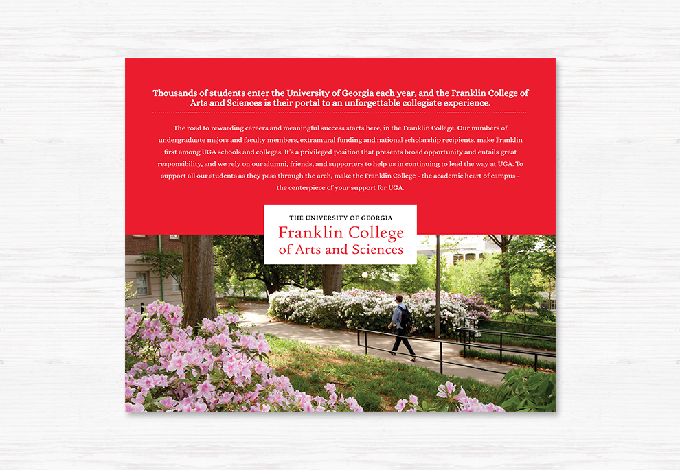 The Adsmith » Franklin College Brochure | Branding, Design