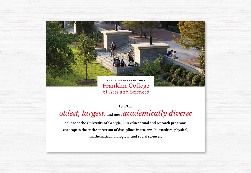 The Adsmith  Franklin College Brochure  Branding Design