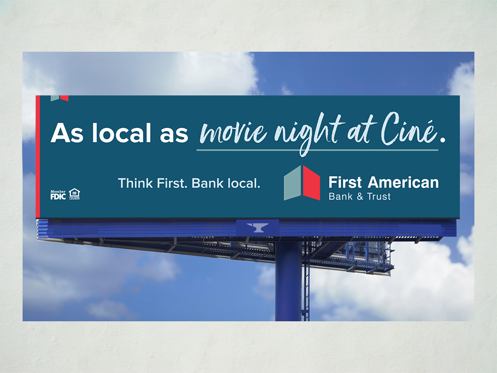 First American Bank As Local As campaign billboard 04