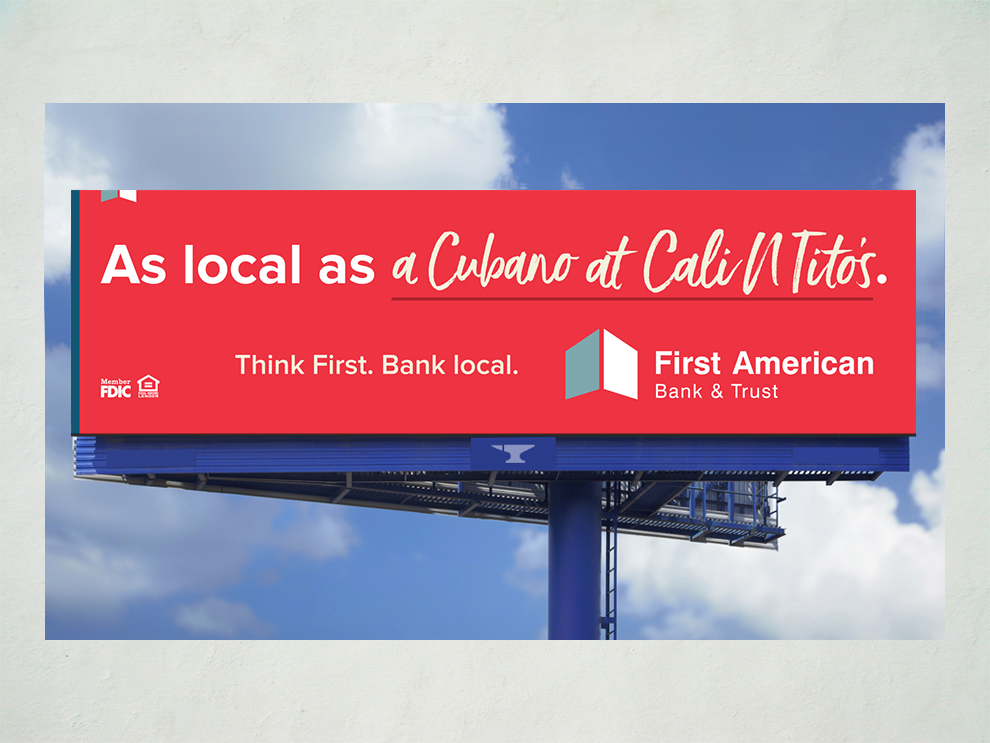 First American Bank As Local As campaign billboard 05