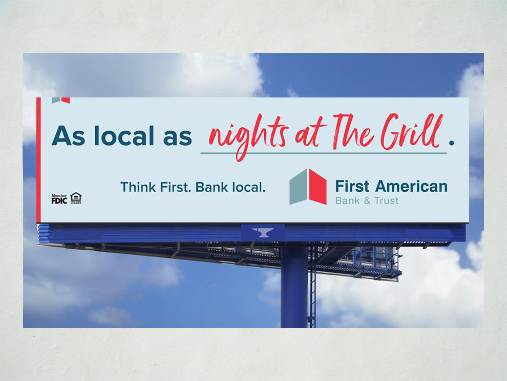 First American Bank As Local As campaign billboard 07
