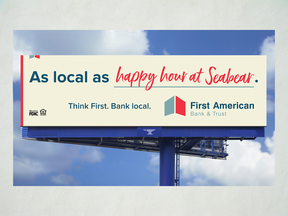 First American Bank As Local As campaign billboard 09